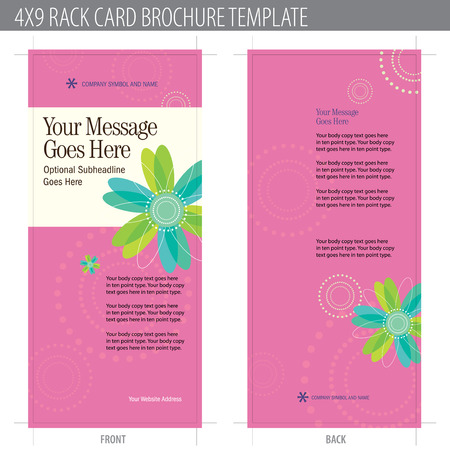 4x9 Rack Card Brochure Template (includes cropmarks, bleeds, and keyline - elements in layers) More in portfolio Stock Vector - 4775935