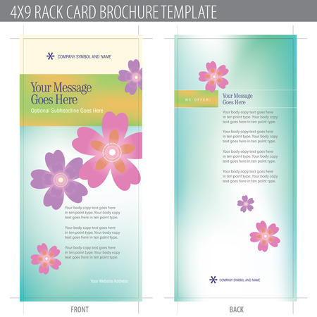 4x9 Rack Card Brochure Template (includes cropmarks, bleeds, and keyline - elements in layers) More in portfolio Stock Vector - 4775940