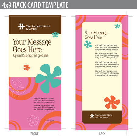 4x9 Rack Card Brochure Template (includes cropmarks, bleeds, and keyline - elements in layers) More in portfolio Vector