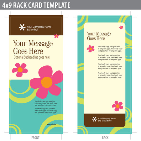 4x9 Rack Card Brochure Template (includes cropmarks, bleeds, and keyline - elements in layers) More in portfolio Stock Vector - 4775898
