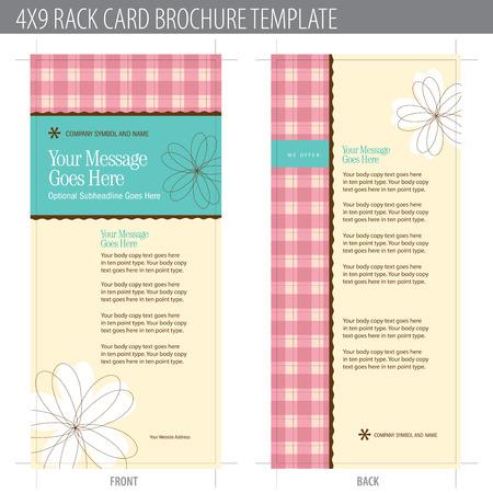 web side: 4x9 Tarjeta Folleto plantilla Rack (incluye cropmarks, hemorragias, y Keyline - elementos en capas) M�s de cartera