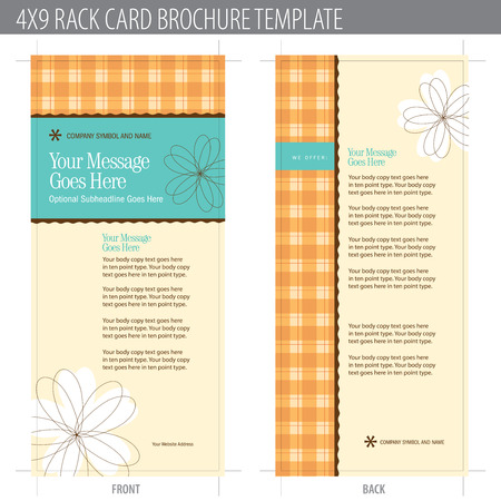 keyline: 4x9 Rack Card Brochure Template (includes cropmarks, bleeds, and keyline - elements in layers) More in portfolio