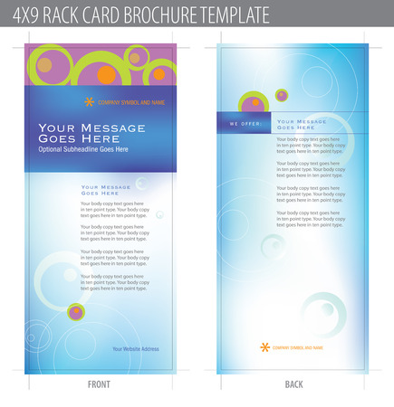 4x9 Rack Card Brochure Template (includes cropmarks, bleeds, and keyline - elements in layers) More in portfolio Stock Vector - 4775926