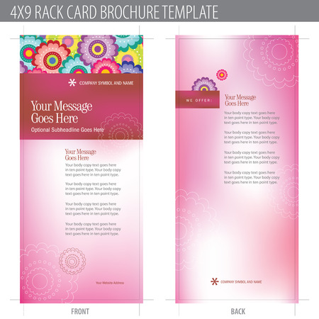 4x9 Rack Card Brochure Template (includes cropmarks, bleeds, and keyline - elements in layers) More in portfolio Stock Vector - 4775970