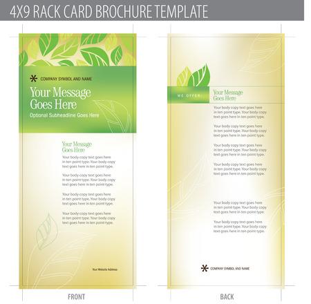 4x9 Rack Brochure Sjabloon Card (inclusief cropmarks, bloedingen en keyline - elementen in lagen) Meer in portefeuille