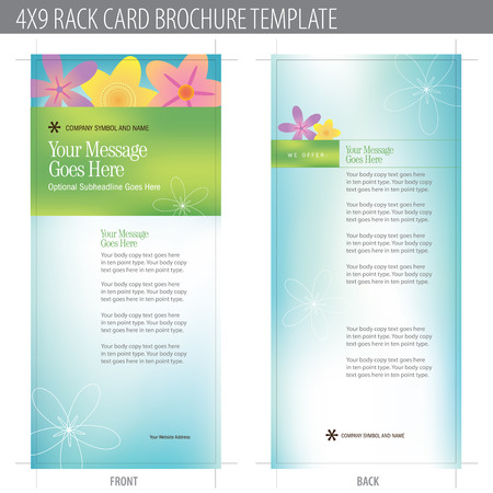 4x9 Rack Card Brochure Template (includes cropmarks, bleeds, and keyline - elements in layers) More in portfolio
