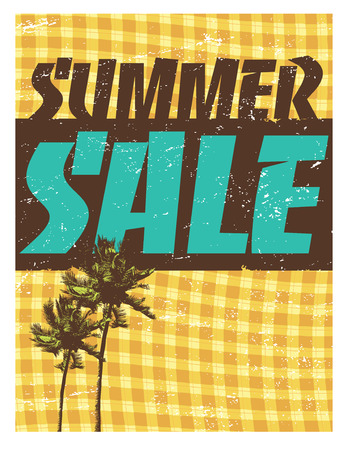 scratchy: 8.5x11 Summer Sale FlyerPoster Template Illustration