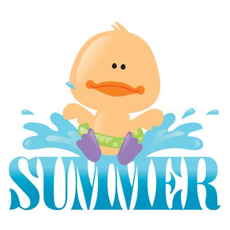 Summer Splash Isolated Graphic 1 Vettoriali