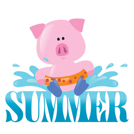 Summer Splash Isolated Graphic 2 Vector
