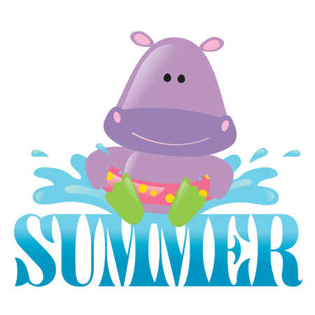 Summer Splash Isolated Graphic 3 Vector