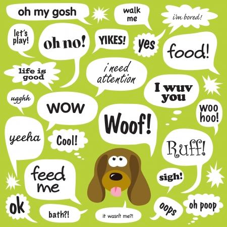 phrases: Frases en diversas burbujas de c�mic Vectores
