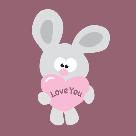 Valentine bunny  Vector