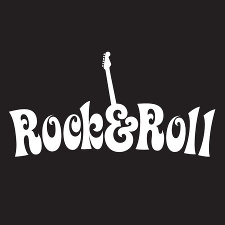 70s style Rock & Roll Design  Иллюстрация
