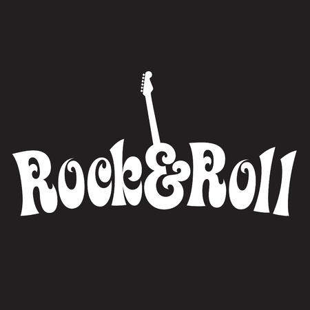 70s style Rock & Roll Design  Ilustracja