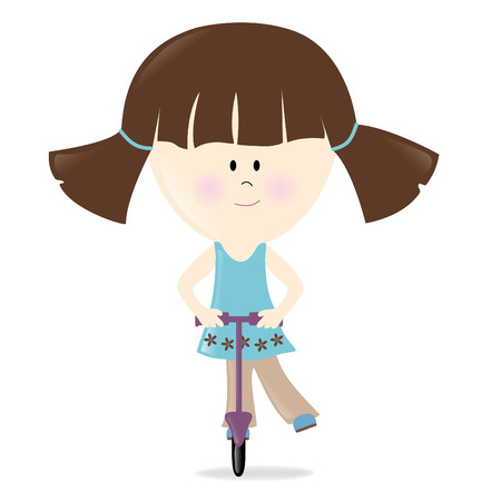 Scooter Girl Isolated on white Vector