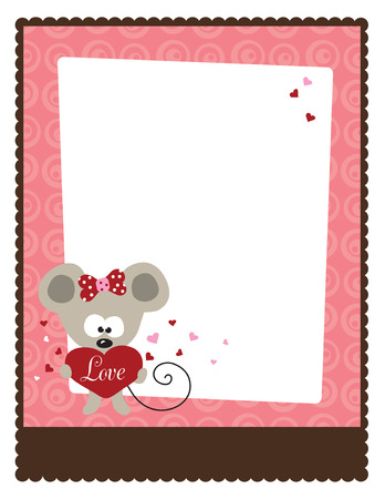 8.5x11 Valentine's Day Flyer Template Stock Vector - 5529362