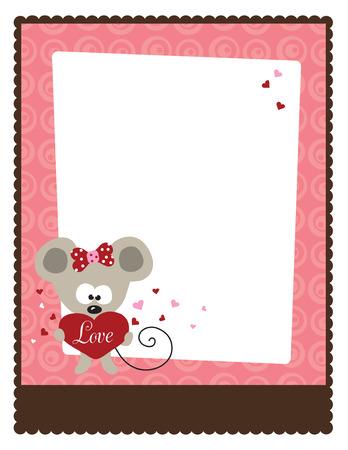 8.5x11 Valentinstag Flyer Template