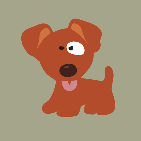 droopy: Loyal Puppy Illustration
