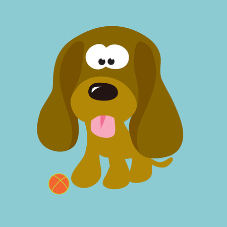 droopy: Droopy Ears Puppy Illustration