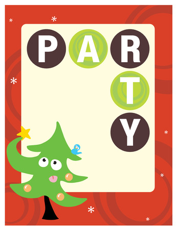 8.5x11 Party FlyerPoster Template  Vector