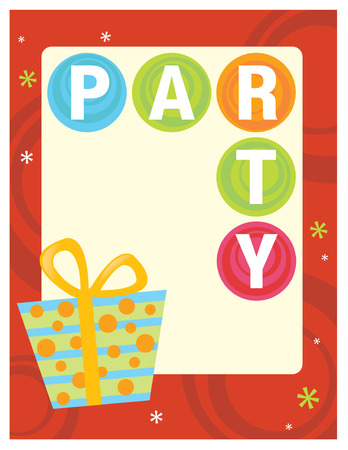 8.5x11 Party Flyer/Poster Template  Stock Vector - 5529356