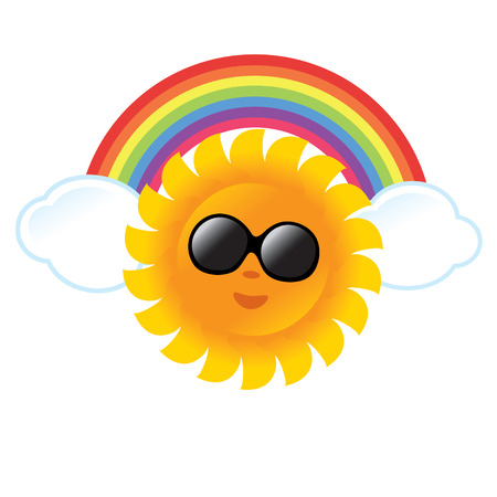 arcoiris caricatura: Verano Gr�fico