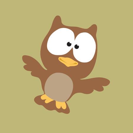 Owl Flying High Vector