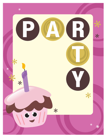 flickering: 8.5x11 Party FlyerPoster Template