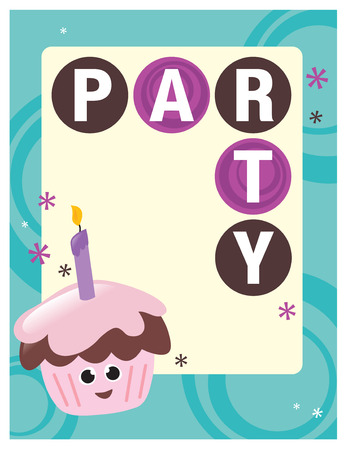8.5x11 Party Flyer/Poster Template Stock Vector - 5528864