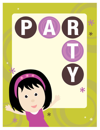 8.5x11 Party Flyer/Poster Template Stock Vector - 5528865