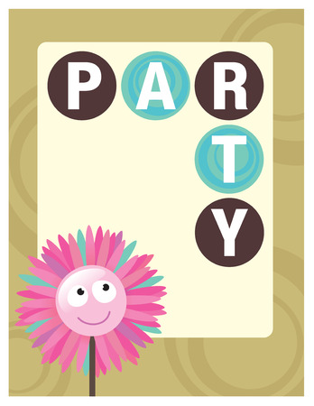 8.5x11 Party Flyer/Poster Template Stock Vector - 5528871