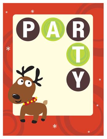 x stand: 8.5x11 Christmas Party Flyer  Poster de plantilla