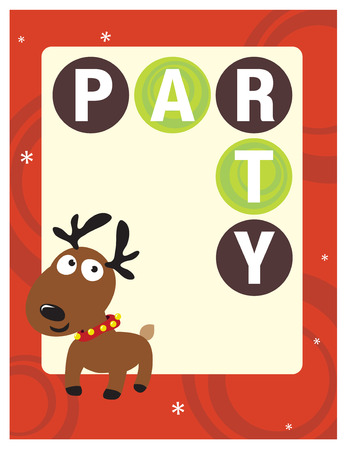 8.5x11 Christmas Party Flyer/Poster Template Stock Vector - 5528860