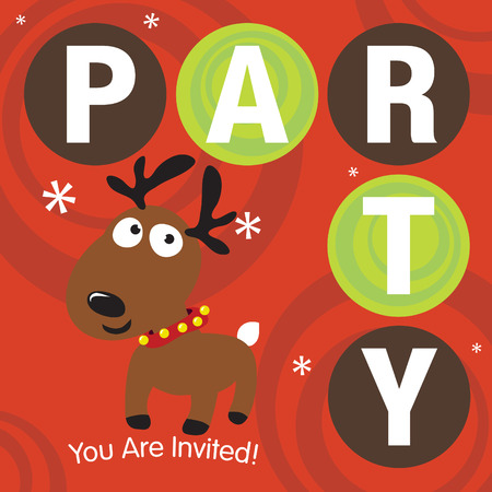 Christmas Party Invite Stock Vector - 5528891
