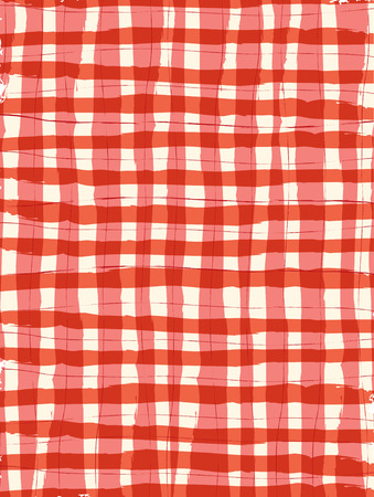 Brush Stroke Gigham Background Vector