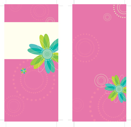 4x9 Rack Card Brochure Template Stock Vector - 5528960