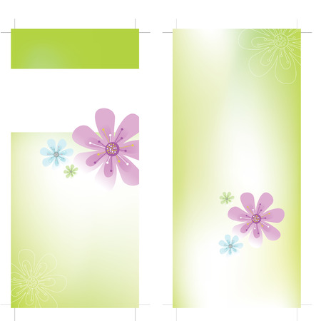 4x9 Rack Card Brochure Template Vector