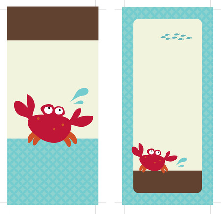 crabs: 4x9 Rack Card Brochure Template