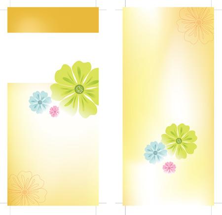 4x9 Rack Card Brochure Template Stock Vector - 5528947