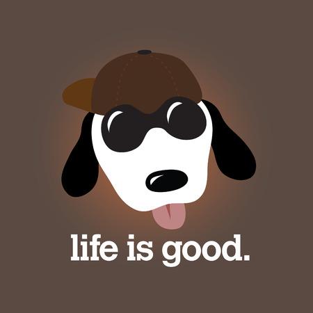 Life is Good Design Vector