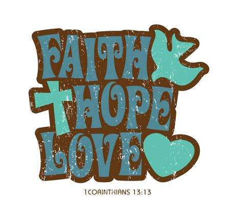 70s: 1970s Vintage Christian T-shirt design Illustration