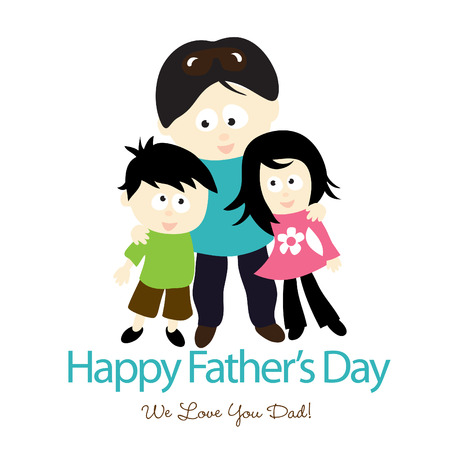 Happy Fathers Day Isolated Graphic Vector