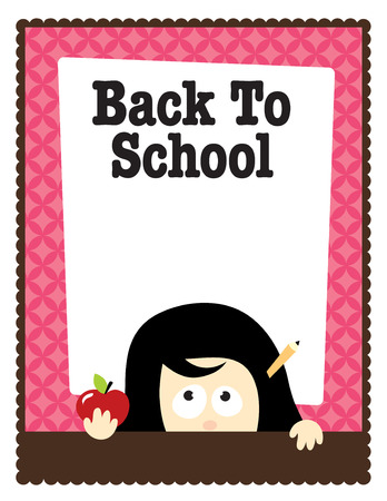 8.5x11 School Template Illusztráció