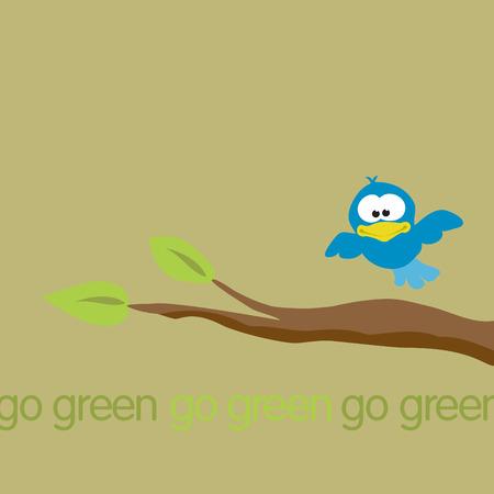 go green Illusztráció