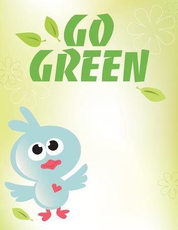 8.5x11 Go Green Flyer Template Ilustração