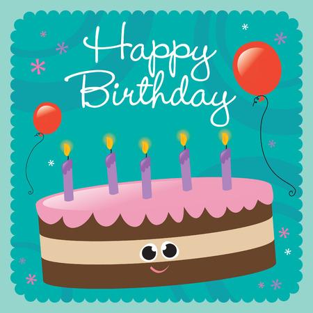 Glücklich Geburtstag-Karte  Standard-Bild - 5528898