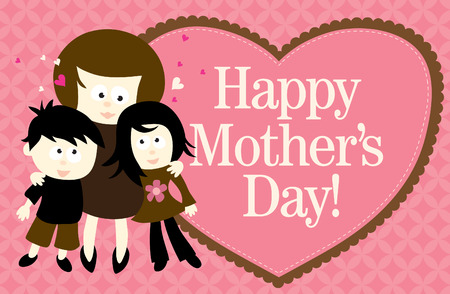 Happy Mothers Day Web Banner Vector