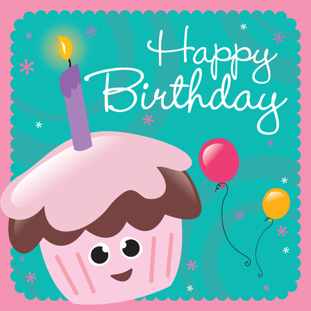 Happy Birthday-Karte  Standard-Bild - 5528896