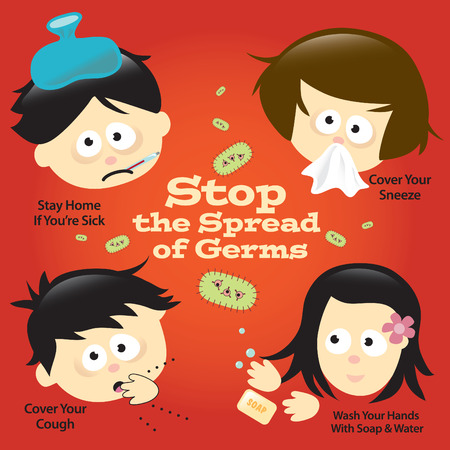 Flu Prevention PosterSign Vector