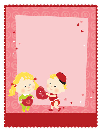 8.5x11 Valentine's Template  Vector